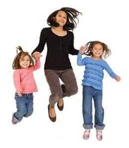 woman and 2 kids - Children's Center