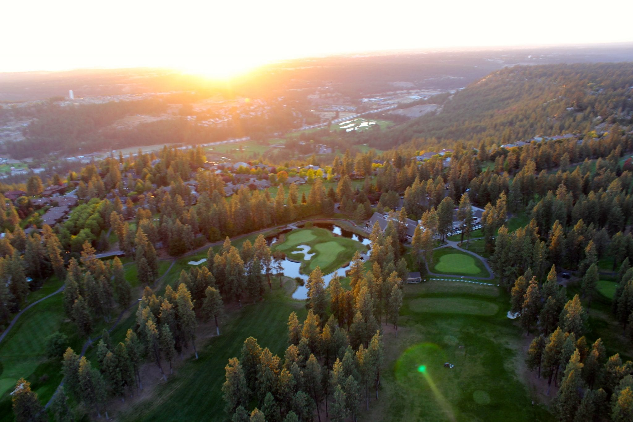 View of Manito course from helicopter